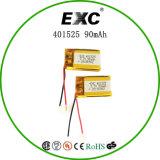 Bateria do Recharge de Exc401525 90mAh 3.7V para o GPS