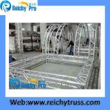 段階のトラスによって曲げられる屋根のトラスアルミニウムイベントのトラスDJブースのトラス