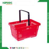 Cesta de compras de plástico à mão