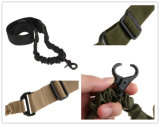 PRO New tactique Portée armée militaire Single Point Bungee Gun réglable Rifle Sling Noir