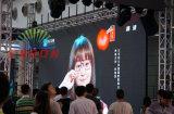 P4.81 (P5) Display de LED de cor completa ao ar livre Vídeo Painel Peso leve 7.8kg / Gabinete