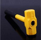 Herramientas de mano de un martillo de octágono con mango de plástico