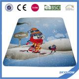 Cobertor feito sob encomenda do poliéster da cópia do velo polar quente da promoção de venda 2017
