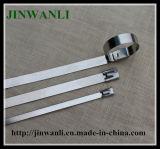 Ss304 316 неприкрытой кабельную стяжку из нержавеющей стали