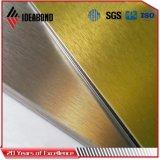 Precio compuesto de aluminio de plata aplicado con brocha del panel en fábrica