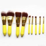 Fabricante OEM dinheiro portátil adorável amarelo 9 pequena escova de maquiagem de cintura