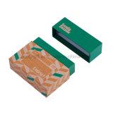 Modificar la tarjeta de felicitación para requisitos particulares de empaquetado del regalo del rectángulo de la postal del rectángulo de papel de Kraft de la insignia de la hoja de oro  Rectángulo de la foto