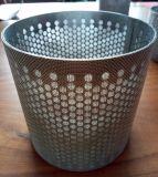 Tubo filtrante perforado sinterizado de acoplamiento de alambre del acero inoxidable