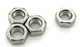 En acier inoxydable 304 18-8 écrous hexagonaux VERROUILLÉ EN NYLON avec bague en caoutchouc bleu DIN 985