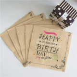 Fiesta mayor de la fábrica Ecológico de alimentación desechable cumpleaños servilleta de papel