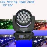 Ce stade de LED RoHS Zoom tête mobile 19*12W Club de l'éclairage