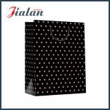 L'estampage à chaud logo noir imprimé des sacs en papier brun personnalisé