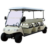 Elektrisches Golf-Auto-touristischer Zug im szenischen Punkt