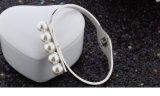 La moda Brazalete Pulsera de acero inoxidable con Perlas Joyas (HDX1056)