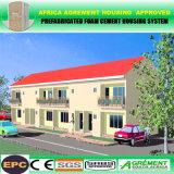 Hogares prefabricados prefabricados vivos temporales/permanentes de la estructura de acero de la construcción de viviendas