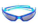 Óculos de sol Light-Colored da forma por atacado em linha com lente espelhada