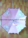 こんにちはキティ子供のためのピンク雨傘