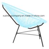 スリーピースの円形の藤のカラーテーブルおよび椅子