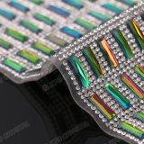 40*24cm 색깔 Ab 장방형 수정같은 모조 다이아몬드 장 Hotfix 모조 다이아몬드 주옥 메시 롤