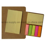 事務用品のためのクラフト紙カバーEcoのカスタマイズされた粘着性があるノート