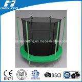 Trampolín redondo simplificado del color verde 8FT