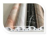 PVCの木製の家具のための中国の製造業者ののどの大理石の熱い押すホイル