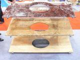 Comptoir de granit naturel et de vanité en haut pour la salle de bains