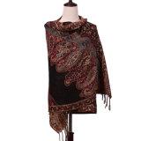 Poliéster 100% do lenço do inverno Pashmina para mulheres