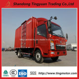 Sinotruk HOWO 3t Mini 밴 Box Truck