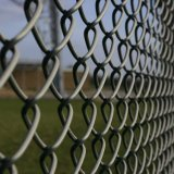 電流を通されたチェーン・リンクの塀または金網の塀