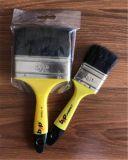 Pura mezcla sintética y las cerdas del cepillo de pintura con mango de plástico