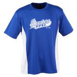 捺印された100%乾燥した適合の網の男女兼用のTaglessのティーのTシャツ