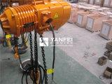 alzamiento de cadena eléctrico 10ton con el gancho de leva