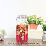 Dispensador de cristal de la bebida de cristal del jugo de la categoría alimenticia 3.5L con la maneta