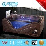 Color marrón en el mercado árabe bañera de masaje con la luz de toda la venta (BT-A1015)