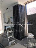 Mattonelle nere del marmo della scanalatura della Cina Nero Marquina per la parete girante di punti