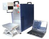 Etiqueta de plástico económica del laser de la fibra/máquina barata de escritorio de la marca del laser