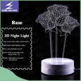 Светодиод подарком цветы роз 3D ночное освещение для дома