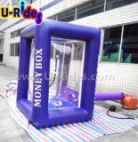 Venta caliente que infla la máquina de efectivo inflable del cubo de la cabina del dinero para el acontecimiento del anuncio
