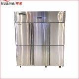 Réfrigérateur classique d'acier inoxydable de portes de l'utilisation six d'hôtel de modèle