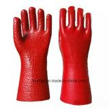 PVC無光沢の滑り止めの働きの防護手袋