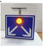 Дорожный знак Borad движения алюминиевого проблескового света СИД солнечный