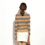 숙녀는 100%년 캐시미어 천 스웨터 스웨터, 미국식 둥근 목 도매를 줄무늬로 했다