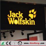 Qualitäts-Chrom-Metall-LED Backlit Harz-Kanal-Zeichen-Zeichen
