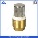 Válvula de retención con muelle de latón Stainess colador de acero (YD-3003)