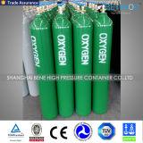 precio de fábrica de 10L 40L de acero de vacío con la válvula del cilindro de oxigeno y la tapa