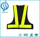 高い可視性のトラフィックの黄色およびオレンジ安全ベスト