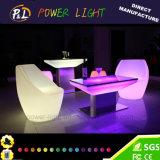 Mobilier lumineux à LED en plastique LED RVB de Table de dîner