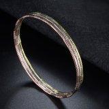 Witte nam Geel van de Juwelen van de manier de Armband van het Koper van het Gouden Plateren voor Dames toe