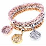 Neue Form-Armband-Armband-Schmucksache-Goldfarben-Kettenarmband-runde hohle Charme-Armbänder für Frauen